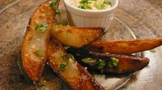Butter-Garlic Oven Fries.  To.Die.For!