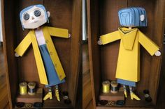 'Coraline' Papercraft Doll. Free downloadable doll and instructions from 'it's dark in the dark' blog. (http://www.darkinthedark.com/other-mother/#)