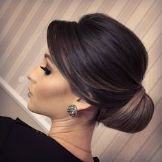 Pin on Hair and beauty Wedding Hairstyles For Long Hair, Elegant Hairstyles, Bride Hairstyles, Bridal Hairdo, Bridal Hair And Makeup, Hair Makeup, Sleek Updo, Medium Hair Styles, Long Hair Styles