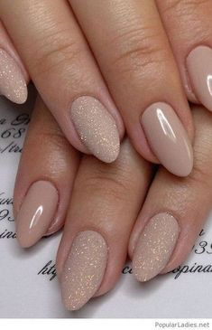 Gold Speckled - These Neutral Nails Are The Epitome Of Chic And Stylish - Photos