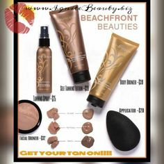 Anyone else wish they were on the beach right now?!!   At least now we can all look like we are!!  Introducing Beachfront Body Bronzer and Self Tanning Spray!!!   Instantly smooth on a bronze summery look with a subtle shimmer  Masks the appearance of uneven skin tone and imperfections  Create the beach babe color you want (3 shades of Body Bronzere available) that washes off when you say when  Www.ignitebeauty.biz