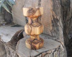 Olive wood candle holder by ellenisworkshop on Etsy, $45.00
