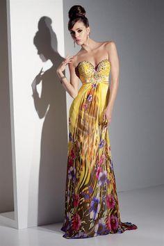 Lindos Vestidos de Fiesta Largos Estampados