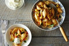 Pasta with Tomatoes, Corn, Squash, and Ricotta, a recipe on Food52