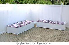 Glassveranda: Gjør-det-selv/DIY: Slik bygger du et koselig sofabenk-hjørne på terrassen - Del 2