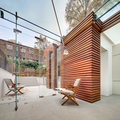 Courtyard. DOS Architects Win Renzo Piano Foundation Prize. Terrace/glass court yard.