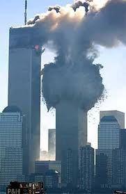 Tijdens 9/11. De eerste toren stortte in.