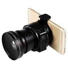 SiFree Smartphone Attachable DSLR 5X Zoom Lens-Style Camera with Macro and Wide Angel Lens (Black)