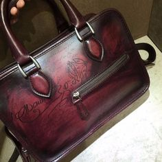 40% off!!! Find More Briefcases Information about TERSE_Factory Price Handmade Italian Leather Shoulder Bag Luxury tote bag in burgundy mens womens mini briefcase with engraving,High Quality berluti bag,China bag f Suppliers, Cheap bags factory from TERSE Official Store on Aliexpress.com