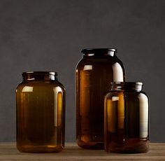 Vintage Hungarian Mason Jars in Amber - Restoration Hardware