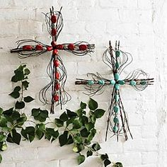 These wire crosses are some of my favorite.. A little pricey, but well worth it!
