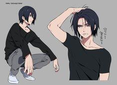 Hot Anime, Cool Anime Guys, Handsome Anime Guys, Anime Oc, Cute Anime Boy, Manga Anime, Anime Boy Hair, Anime Boy Zeichnung, Anime Poses