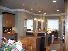 Diane Vasti uploaded this image to 'Greens'. See the album on Photobucket. Interior Paint Colors, Paint Colors For Home, Decor Interior Design, House Colors, Interior Decorating, Wall Colors, Svelte Sage, Sage Kitchen, Dining Room Colors