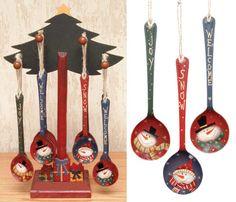 Snowman Spoon Ornaments