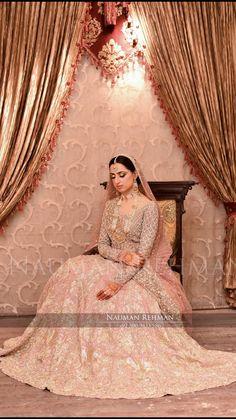 Valima bride Pakistani Clothing, Pakistani Wedding Dresses, Indian Wedding Outfits, Pakistani Outfits, Bridal Outfits, Bridal Looks, Bridal Style, Asian Wedding Dress, Pearl Embroidery