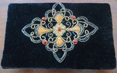 Vintage Velvet Clutch Purse Bead Sequin by VintageVogueTreasure, $65.00
