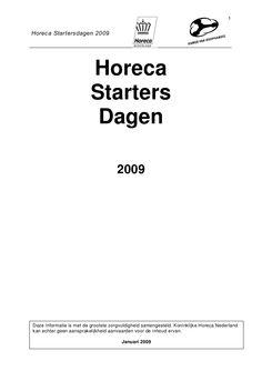 horeca-starters-boek-2009 by Horeca Ondernemers Academie