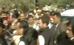 Rahul Gandhi Visits Razed Delhi Slum As AAP Takes Protest To Parliament