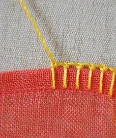 Tutorial for different blanket stitches.