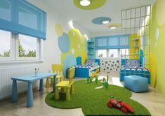 Pokojík v modro-žluté