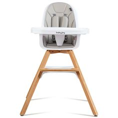 You must feel tired to feed your baby when he or she is active and always moving around. Now, this baby chair can handle this problem. With a 5-point safety harness, your baby can steadily sit on the chair and enjoy a meal. The tray is detachable, featuring with double-decker for multi-purpose use. As the legs are made from beech wood material, you can rest assured that your baby won't fall down. It is also with a high price-quality rate as it can be served as an infant high chair.