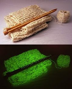 Nightlights Glow in the Dark Yarn. I didn't know whether to put this under toys or art ... an art material, anyway.