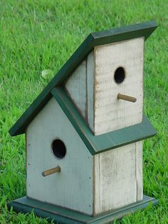 Wooden Creations WC 643 Townhouse Birdhouse wood craft pattern