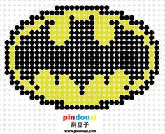 A027-蝙蝠侠标志_拼豆图纸_拼豆子 - powered by sdcms