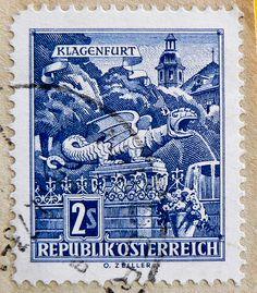 stamps | great stamp Austria dragon Drache Lindwurm 2.00 Österreich Autriche ...