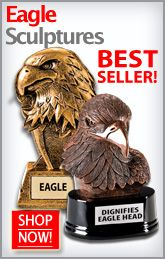 Finally a Sculpture Award as Distinguished as  Them! Crown Awards Eagle Sculptures are Sure to Make the Right Statement! http://www.crownawards.com/StoreFront/Sculpture.Eagle.ALL.srch