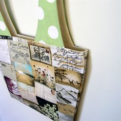 Linda Lunch Bag - Postcards & Polka Dots | monkey & bee | madeit.com.au