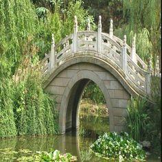 Ming Dynasty style moon bridge, China