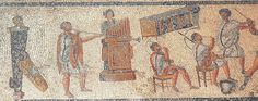 Roman musicians during a gladiatorial combat. Zliten mosaic (IInd century AD) at The Archaeological Museum of Tripoli (Libya). Rome Antique, Art Antique, Ancient Rome, Ancient Art, Art Romain, Rome Art, Minoan, North Africa, Roman Empire