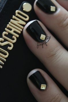 black and gold deco