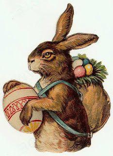Easter bunny vintage scrap: Bunny Scrap, Easter Scrap, Easter Rabbit, Easter Vintage