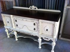 Antique Buffet painted by A to Z Custom Creations