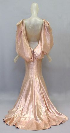 Pink lamé evening gown (back), by Donatella Versace for Versace Couture, Italian, spring/summer 2008.