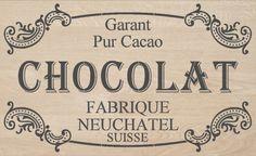 STENCIL  French Stencil  CHOCOLAT  12x20 by MoreThanWordsVinyl, $35.00