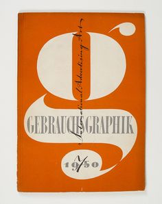 Cover of Gebrauchsgraphik by Heinz Hadem, 1950 #typography