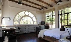 this room is perfect... the windows are lovely, the light is abundant and the bed looks so inviting