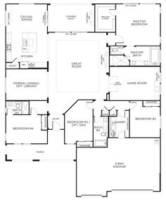 Love this layout with extra rooms. Single Story Floor Plans | One Story House Plans | Pardee Homes