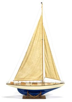 A owner's model pond yacht