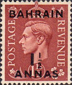 Bahrain 1948 George VI Head India Overprint Fine Used SG 53 Scott 54 Other Bahrain Stamps HERE