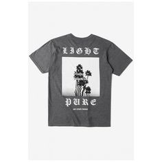 7254bb497 Gothic Letter Photo Printed Short Sleeve Round Neck Casual Tee ($25) ❤  liked on
