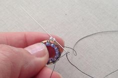 Beaded Brick Stitch Circle Pendant: Starting the brick stitch around the outside of the ring