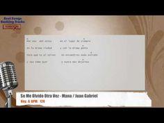 Se Me Olvido Otra Vez - Mana / Juan Gabriel Vocal Backing Track with cho...