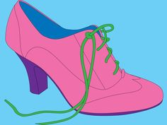 Michael Craig-Martin | I like the simplicity of this artwork. The fact that its just a shoe but the colours stand out and makes it look attractive