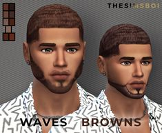 sims 4 cc // custom content black hairstyle // black simmer, african american, ethnic hair // brown waves by thesimsboi Sims 4 Hair Male, Sims 4 Male Clothes, Sims 4 Toddler Clothes, Sims 4 Cc Kids Clothing, Sims Mods, The Sims 4 Skin, The Sims 4 Cabelos, Sims 4 Collections, Sims Baby