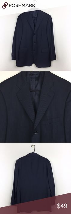 BROOKS BROTHERS SUIT SPORT BLAZER 42R Elegant Brooks Brothers blazer in black and navy blue stripes (check zoom to see pattern details) size 42R. Peristome mint condition, absolutely flawless! Questions? Ask me 😉 Brooks Brothers Suits & Blazers Sport Coats & Blazers