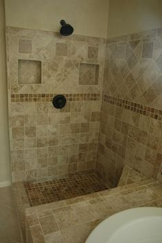 Tile Bathroom Shower Ideas   homedesignbiz.com